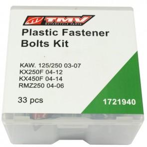 TMV Plastic fast.boltkit KX KX250F 04-12 KX450F 04-14 -33Pcs