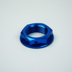 Scar Steering Stem Nut - YZ YZF WRF CR CRF XR - Blue