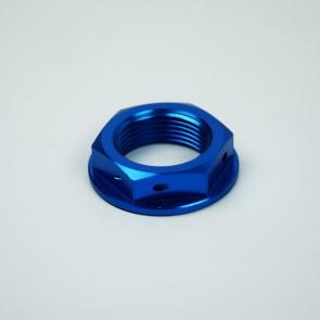 Scar Steering Stem Nut - KX KXF KLXR - Blue