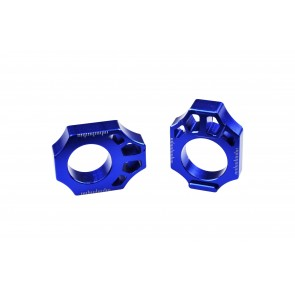 Scar Axle Blocks - YZ125/250 YZ250F/450F WR250F/450F YZ250FX/450FX - Blue