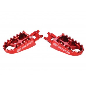 Scar Evolution Footpegs-RM-Z 250 10-.. RM-Z 450 08-..  RMX 450Z 10-15 Red