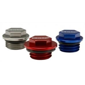 TMV Oil Plug Kaw. KX60/65/85/100/125 90-08 RM 65 03-08 Red