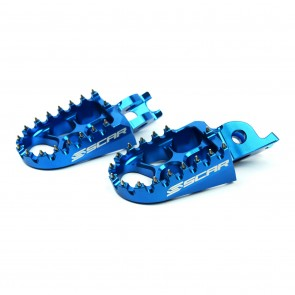 Scar EVO Pegs KXF250 06-.. KXF450 07-.. CR/CRF/CRF/X 02-.. Blue