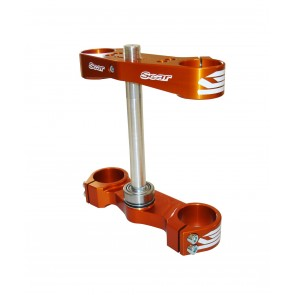 Scar Triple Clamps - 65SX 12-19 Offset:std (22mm) Orange