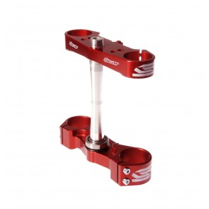 Scar Triple Clamps - CR125 CR250 97-07 Offset:22mm (std -2mm) Red